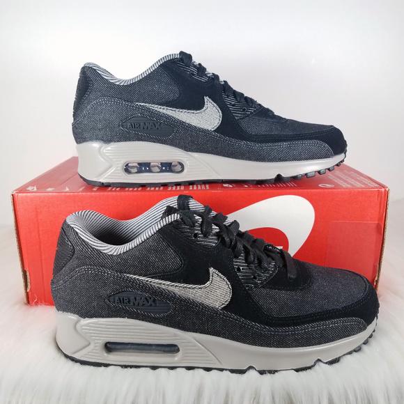 NWT Nike Air Max 90 SE Womens Denim Black Grey NWT